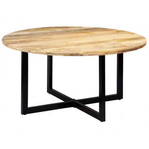 Zdjęcie produktu Stół okrągły z drewna Mavin 3X – brązowy .