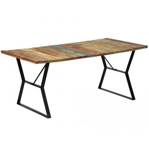 Zdjęcie produktu Stół industrialny z drewna Javis 2X – wielokolorowy.