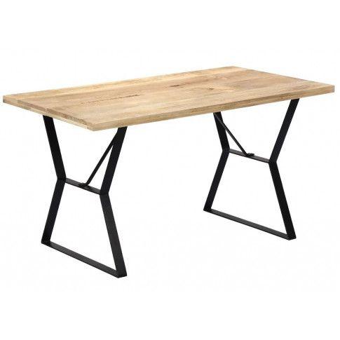 Zdjęcie produktu Stół w stylu loft z litego drewna Javis – brązowy.