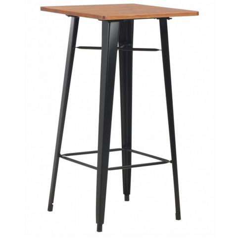 Sosnowy stolik barowy Stacy