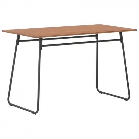 Zdjęcie produktu Stół jadalniany w stylu loft ze sklejki Bixor – brązowy .