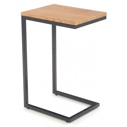 Zdjęcie produktu Wsuwany stolik pod laptopa Ostin - dąb złoty.