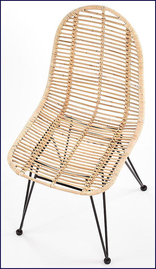 Rattanowe krzesło minimalistyczne Intor