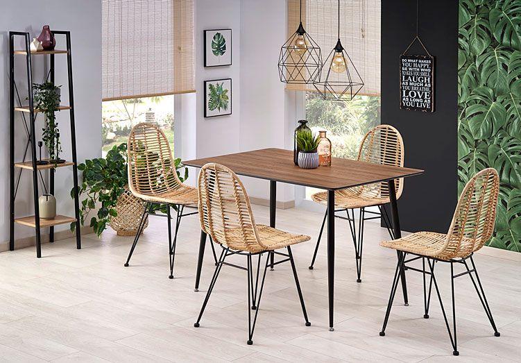 Rattanowe krzesło kuchenne nowoczesne Intor