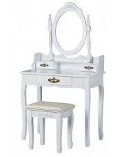Elegancka toaletka Melinda 5X - biała