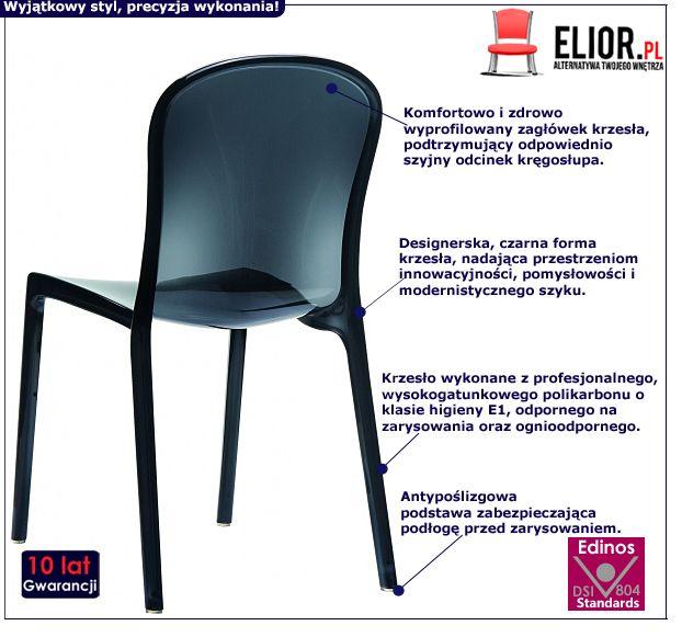 Czarne krzesło Telio - polikarbon