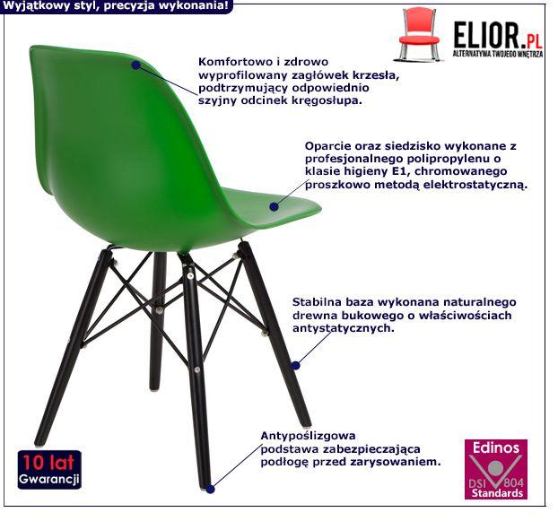 Modne krzesło Epiks - zielone