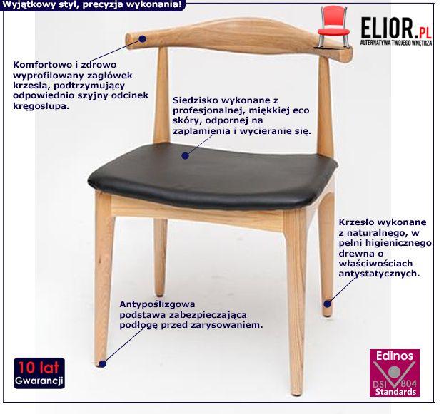 Vintage krzesło Balton - naturalne