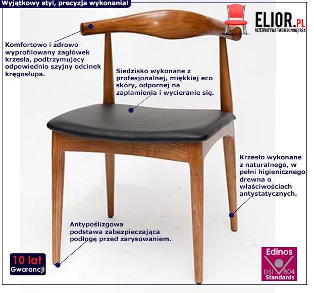 Retro krzesło Balton - jasnobrązowe