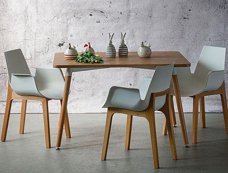 Skandynawskie krzesło Nuffi - białe