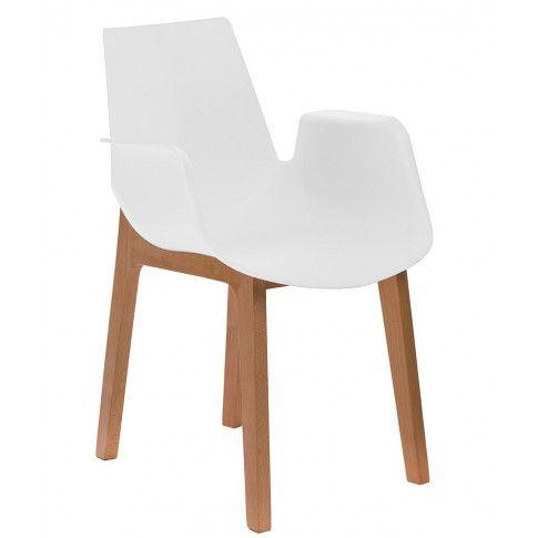 Zdjęcie produktu Krzesło z podłokietnikami Nuffi - białe.