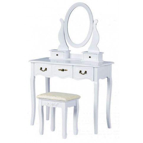 Zdjęcie produktu Elegancka toaletka Lorena 2X - biała.