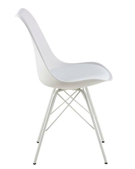 Komfortowe krzesło Lindi - białe