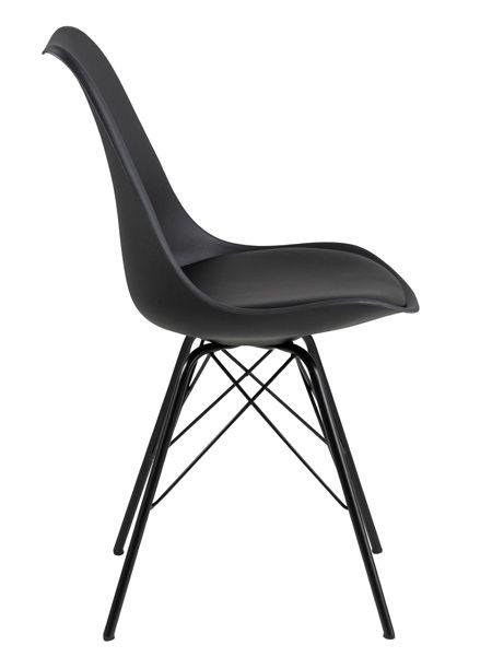 Wygodne krzesło Lindi - czarne