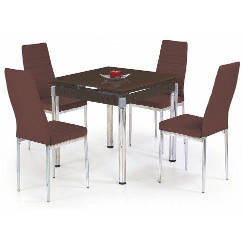 Zdjęcie produktu Rozkładany stół Cuber - brązowy.