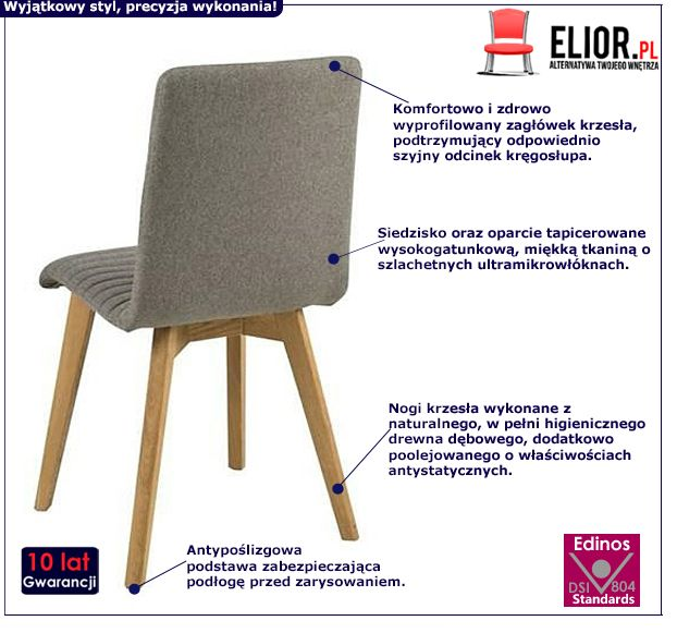 Vintage krzesło Lammo - szare