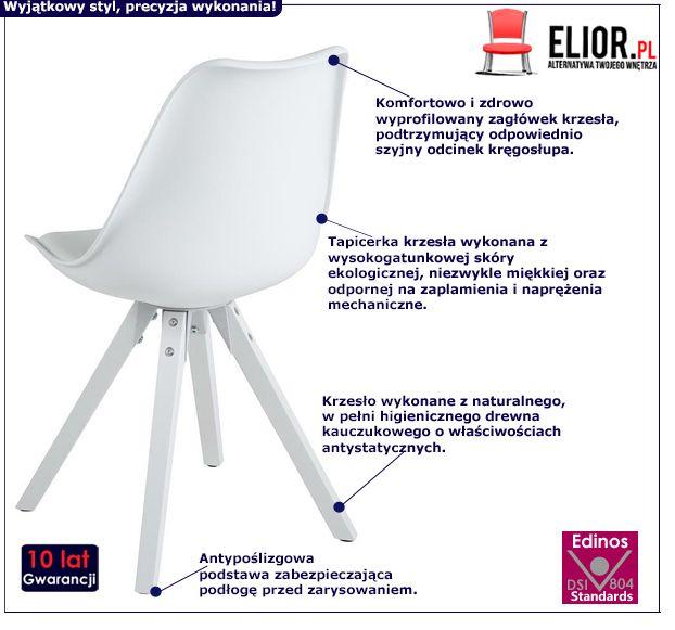 Modne krzesło Oscar 3X - białe