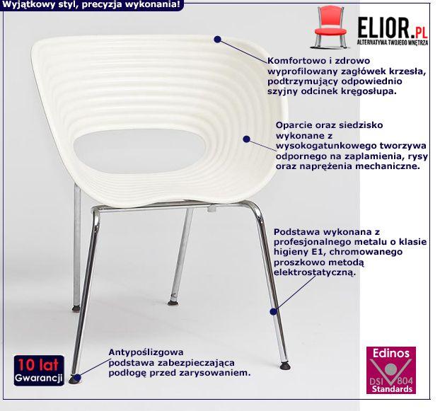 Designerskie krzesło Bublo - białe