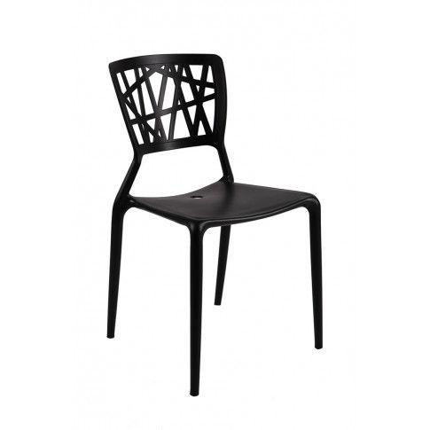 Zdjęcie produktu Krzesło ażurowe czarne Timmi.