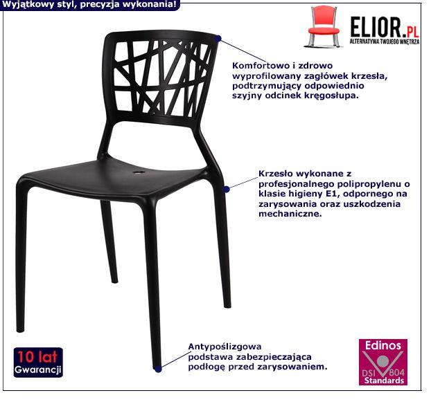 Modne krzesło Timmi - czarne