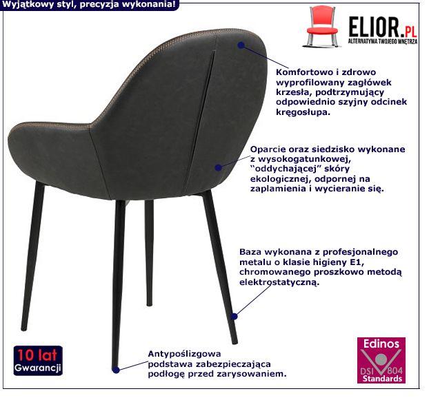 Komfortowe krzesło Mauris 2X - modne