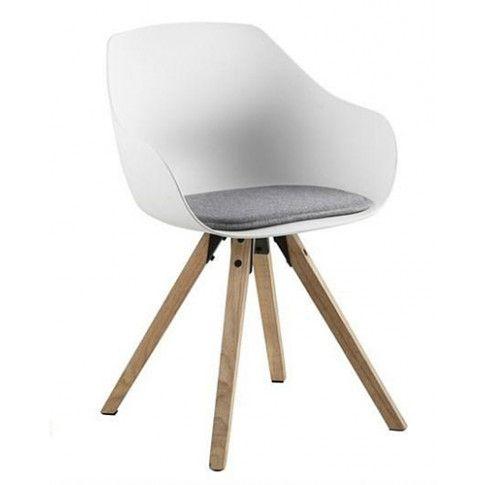 Zdjęcie produktu Skandynawskie krzesło Sophie - białe + naturalne.