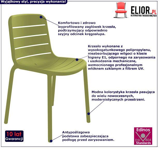Zielone krzesło Leli - wygodne