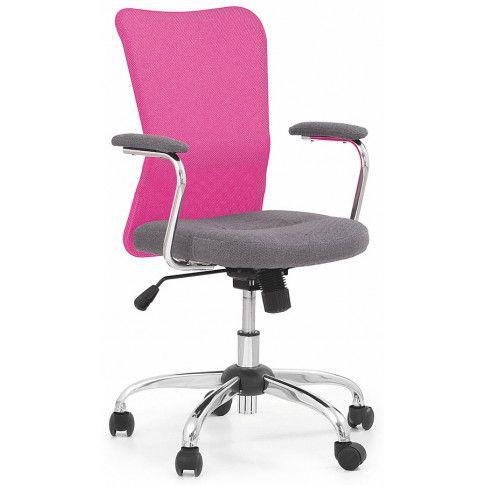 Zdjęcie produktu Fotel obrotowy dla dziewczynki Alwer - różowy.