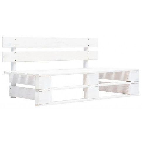 Zdjęcie produktu Biała ławka ogrodowa z palet - Bradley 2X.