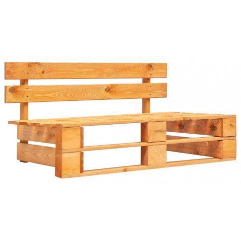 Zdjęcie produktu Brązowa ławka ogrodowa z palet - Bradley 2X.