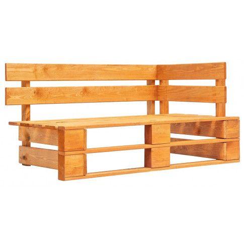 Zdjęcie produktu Brązowa ławka ogrodowa z palet - Bradley 3X.