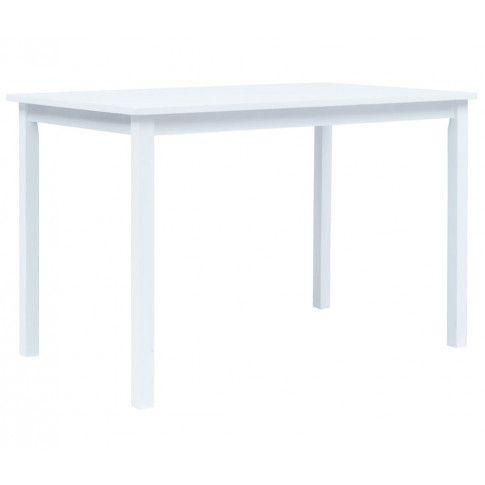 Biały stół z drewna kauczukowego Razel