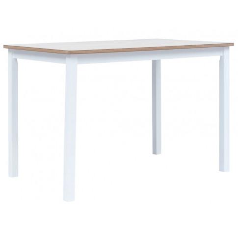 Biało brązowy stół z drewna kauczukowego – Razel