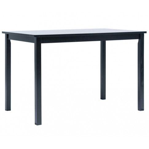 Czarny stół z drewna kauczukowego Razel