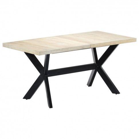 Zdjęcie produktu Stół do jadalni z litego drewna mango Kalis 3X – biały.