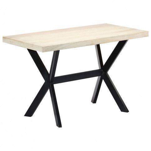Zdjęcie produktu  Stół do jadalni z litego drewna mango Kalis – biały.