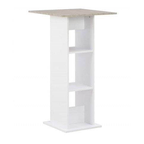 Zdjęcie produktu Stolik barowy kuchenny Kira – biało-betonowy.