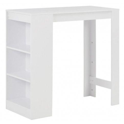 Zdjęcie produktu Stolik barowy z półkami Gabriel – biały .