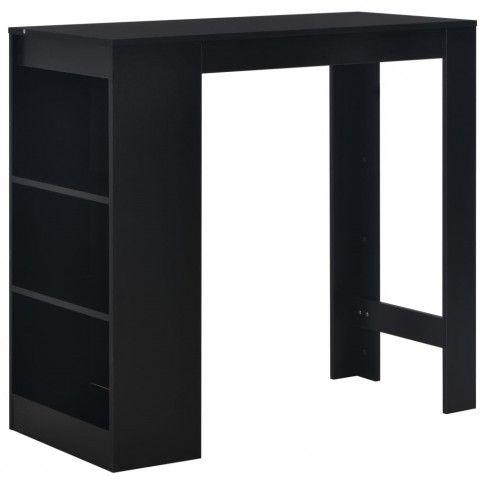 Zdjęcie produktu Stolik barowy z półkami Gabriel – czarny.