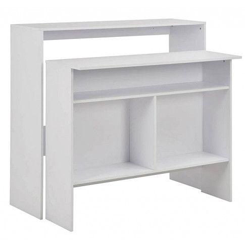 Zdjęcie produktu Stół barowy Alexander 2X - biały.