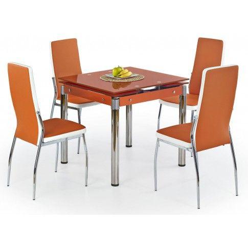 Zdjęcie produktu Rozkładany stół Cuber - pomarańczowy.