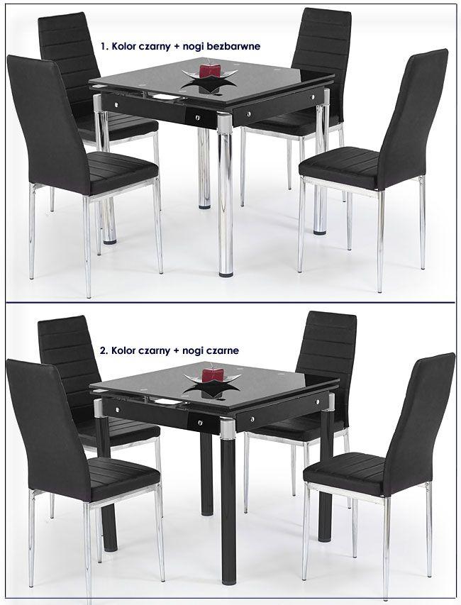 Szklany kwadratowy stół do jadalni, salonu Cuber
