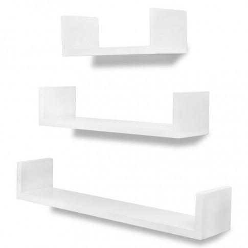 zestaw białych półek ściennych baffic 2x