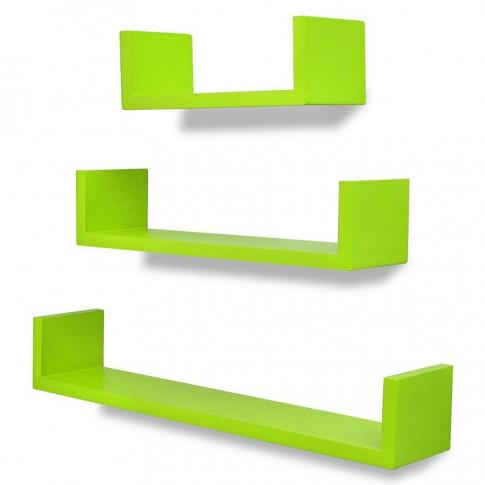 zestaw zielonych półek ściennych baffic 2x