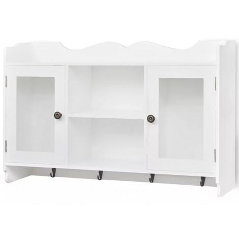 Biała szafka ścienna z drzwiczkami Clifford