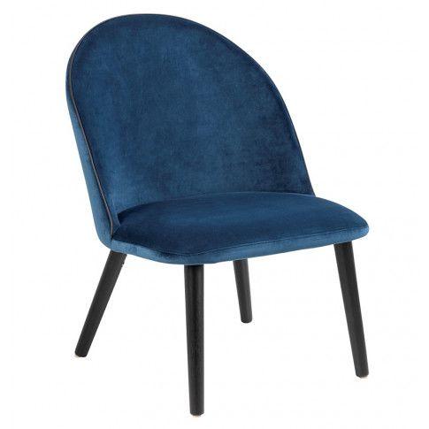 Zdjęcie produktu Tapicerowany welurowy fotel Milmo - niebieski.