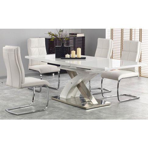 Zdjęcie produktu Rozkładany stół Zander 3X - biały.