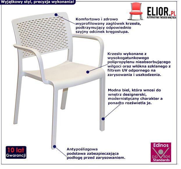 Modne krzesło Mondo - białe