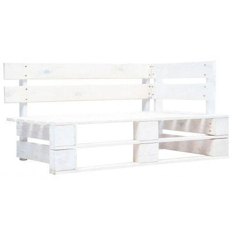 Zdjęcie produktu Biała ławka ogrodowa z palet - Bradley 3X.