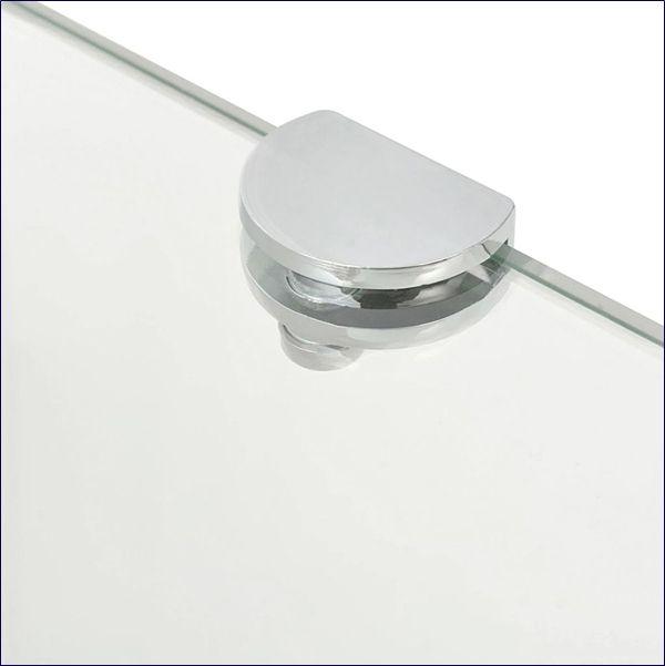Narożna połka z hartowanego szkła do salonu i kuchni Gaja 4X